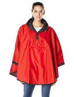 totes Women's Reversible Packable Travel Rain Poncho