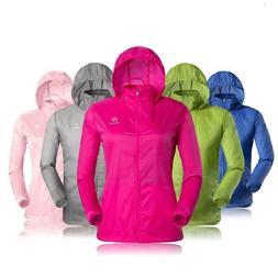 Womens Running Coat Windbreaker Jacket Waterproof Ultra Ligh