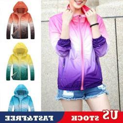 Womens Sunscreen Jackets Summer Oversized Rain Coats Hoodie