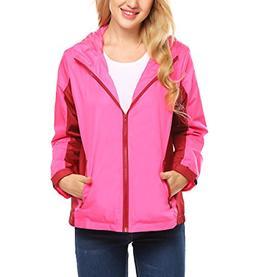 UNibelle Womens Waterproof Anorak Active Outdoor Hoodie Coat