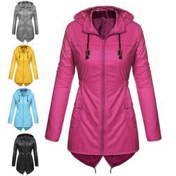 Womens Waterproof Jacket Parka Fishtail Ladies Hoodies Winte
