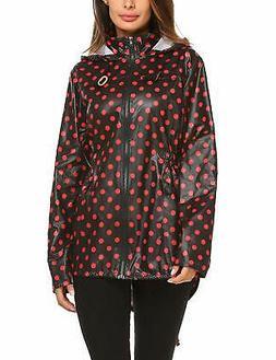 ZHENWEI Womens' Waterproof Lightweight Raincoat Hooded Outdo