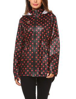 womens waterproof lightweight trench raincoat hooded outdoor