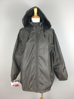 TOTES Womens XL Brown Raincoat Jacket Fleece Lined Detachabl