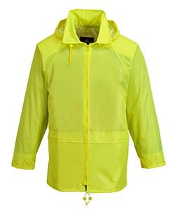 Portwest Workwear Mens Rain Jacket Yellow 4XL