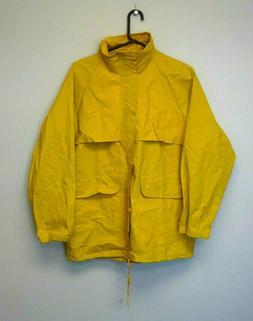 yellow zipper up rain coat new