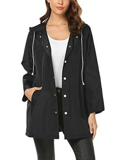 zhenwei Quick-Dry Lightweight Button up Rain Jackets Windbre