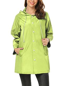 zhenwei Rain Jacket for Women Waterproof Lightweight Raincoa