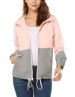 ZHENWEI Women Rain Jacket Lightweight Waterproof Raincoat Ho