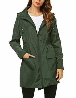 ZHENWEI Womens' Waterproof Lightweight Raincoat )