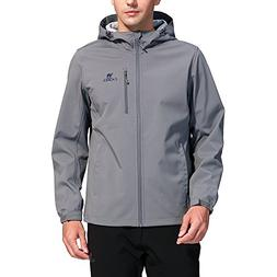 Camel Full Zip Windproof Jacket for Men Lightweight Windbrea